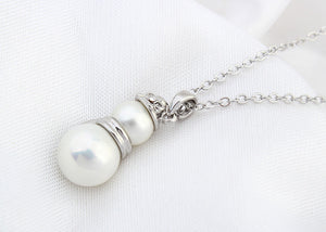 Double Pearl Pendant - Ashley Jewels - 3
