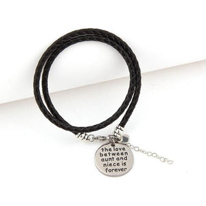 The Love Between Aunt and Niece is Forever- Hand Stamped Bracelet - Ashley Jewels - 3