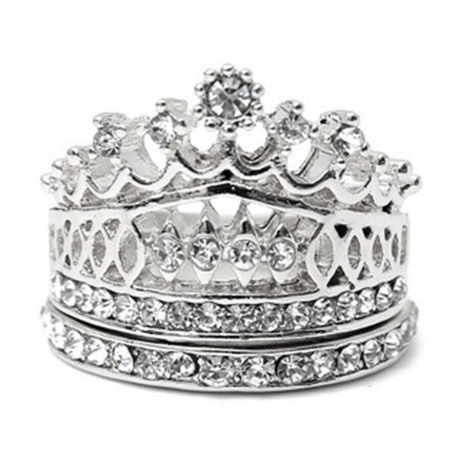 Imperial Crown Ring Set - Ashley Jewels - 2