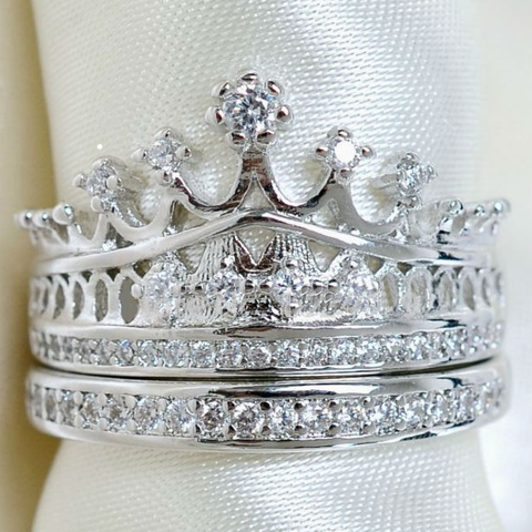 Imperial Crown Ring Set - Ashley Jewels - 3