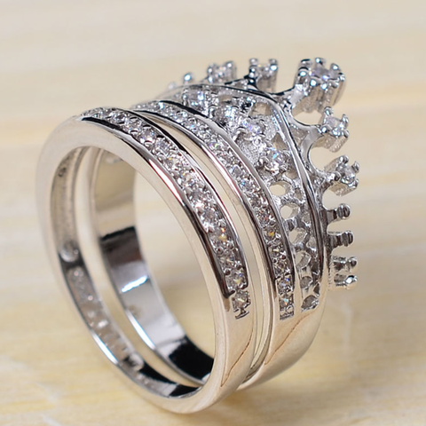 Imperial Crown Ring Set - Ashley Jewels - 4