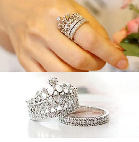 Imperial Crown Ring Set - Ashley Jewels - 1