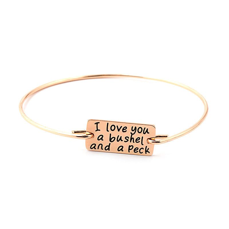 I Love You A Bushel and Peck Bangle - Ashley Jewels - 5