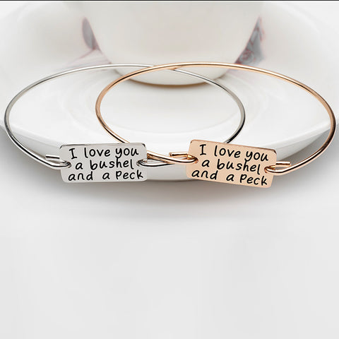 I Love You A Bushel and Peck Bangle - Ashley Jewels - 1