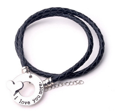 I Love You More - Hand Stamp Bracelet - Ashley Jewels - 1