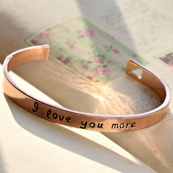 I Love You More Bangle - Ashley Jewels - 7