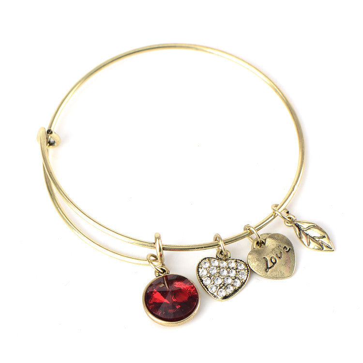 January Birthstone Charm Bangle - Ashley Jewels - 2