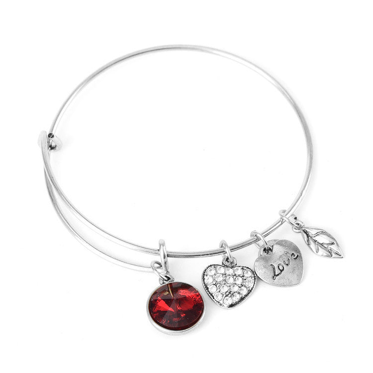 January Birthstone Charm Bangle - Ashley Jewels - 3