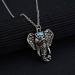 Silver Asian Elephant Necklace - Ashley Jewels - 2