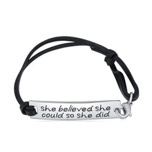 She Believed She Could So She Did Leather Bracelet - Ashley Jewels - 1