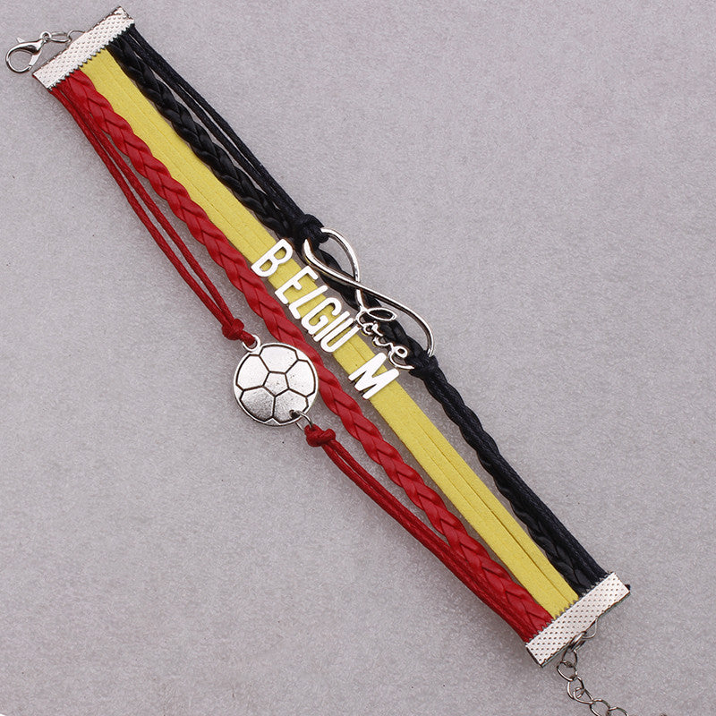 Belgium Soccer Bracelet - Ashley Jewels - 2