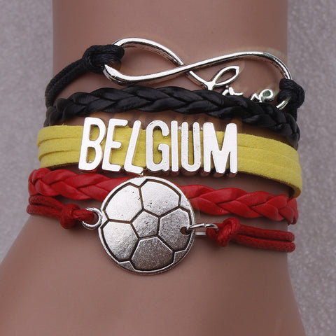 Belgium Soccer Bracelet - Ashley Jewels - 1