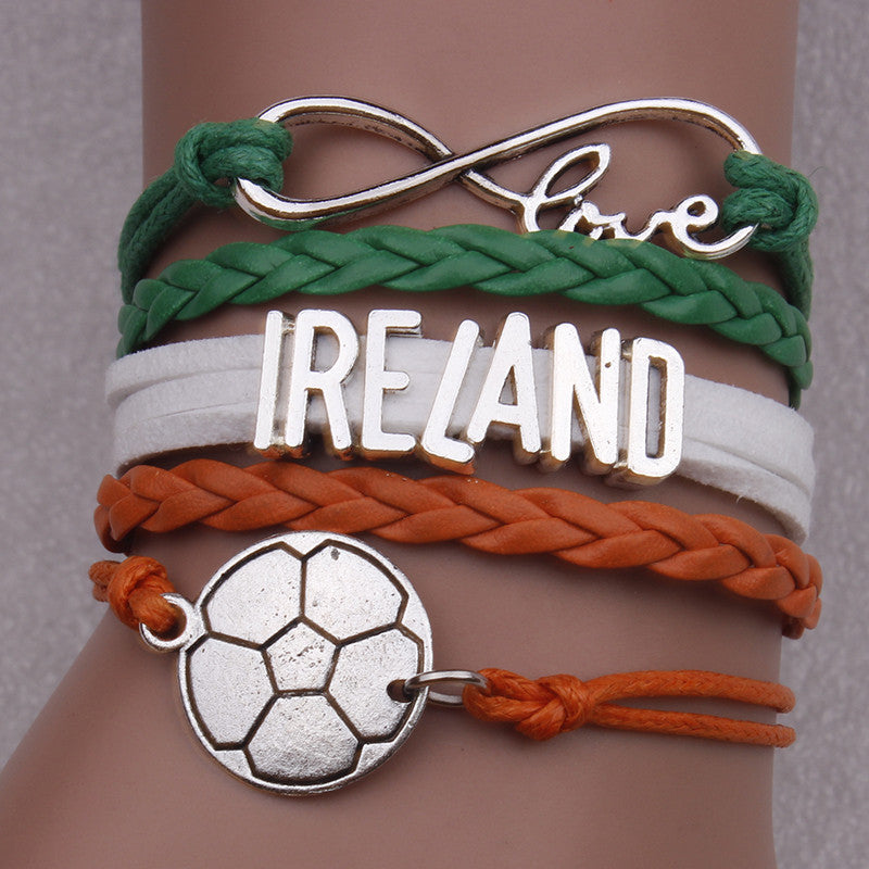 Ireland Soccer Bracelet - Ashley Jewels - 1