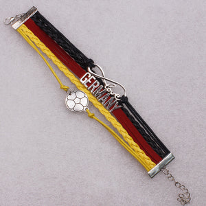 Germany Soccer Bracelet - Ashley Jewels - 2