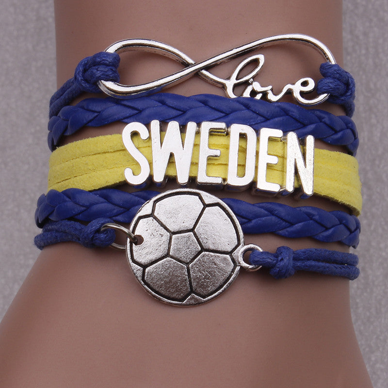 Sweden Soccer Bracelet - Ashley Jewels - 1