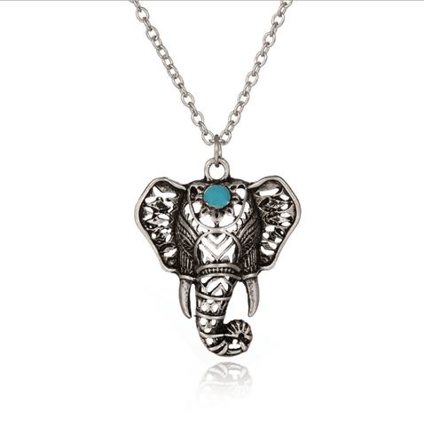 Silver Asian Elephant Necklace - Ashley Jewels - 1