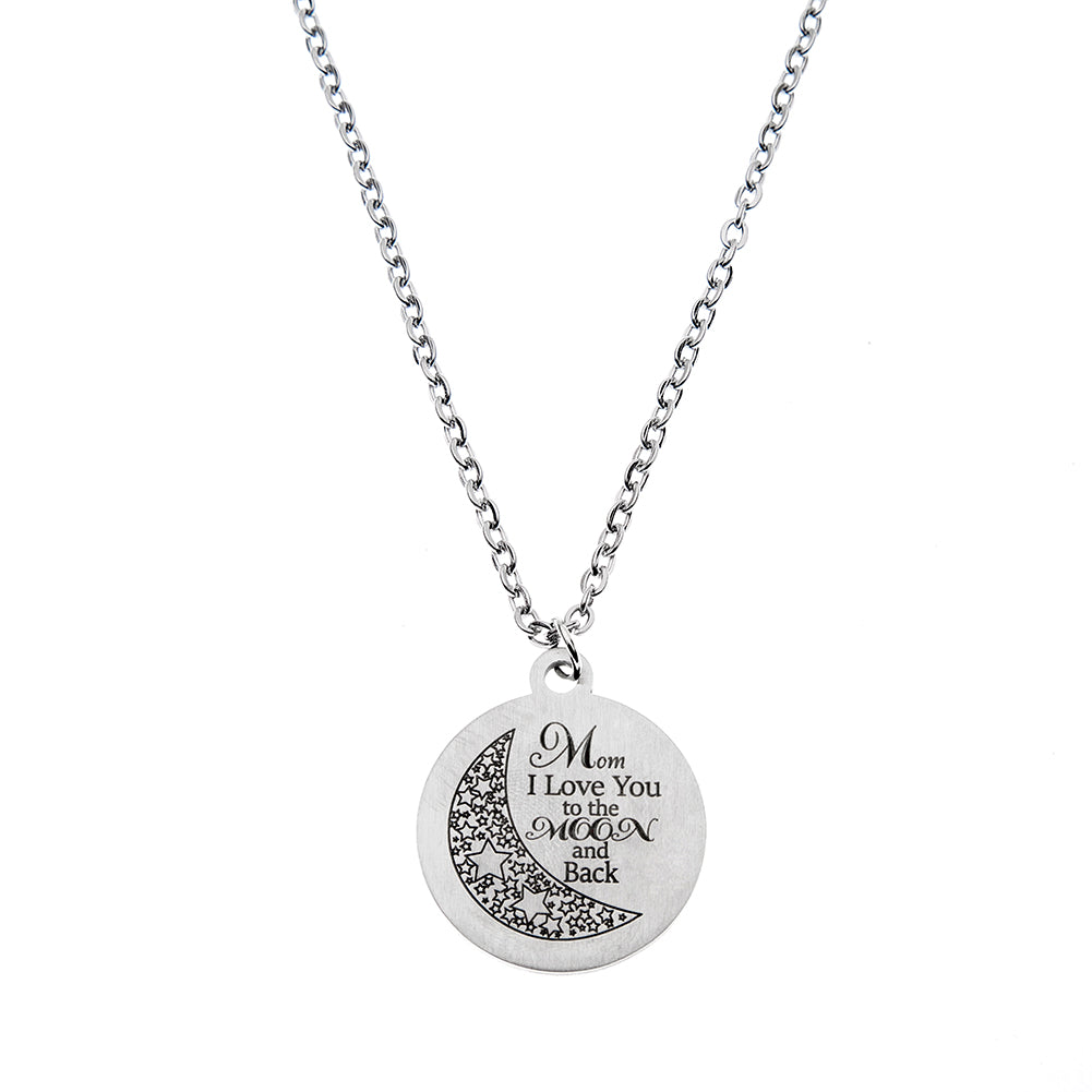 Mom I Love You to the Moon and Back Necklace