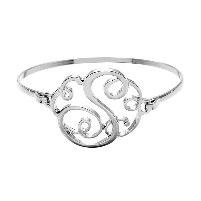 Monogram Initial Script Bracelet with Free Gift Box - Ashley Jewels - 13
