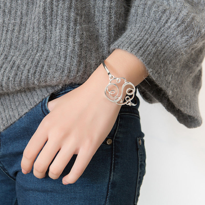 Monogram Initial Script Bracelet with Free Gift Box - Ashley Jewels - 12