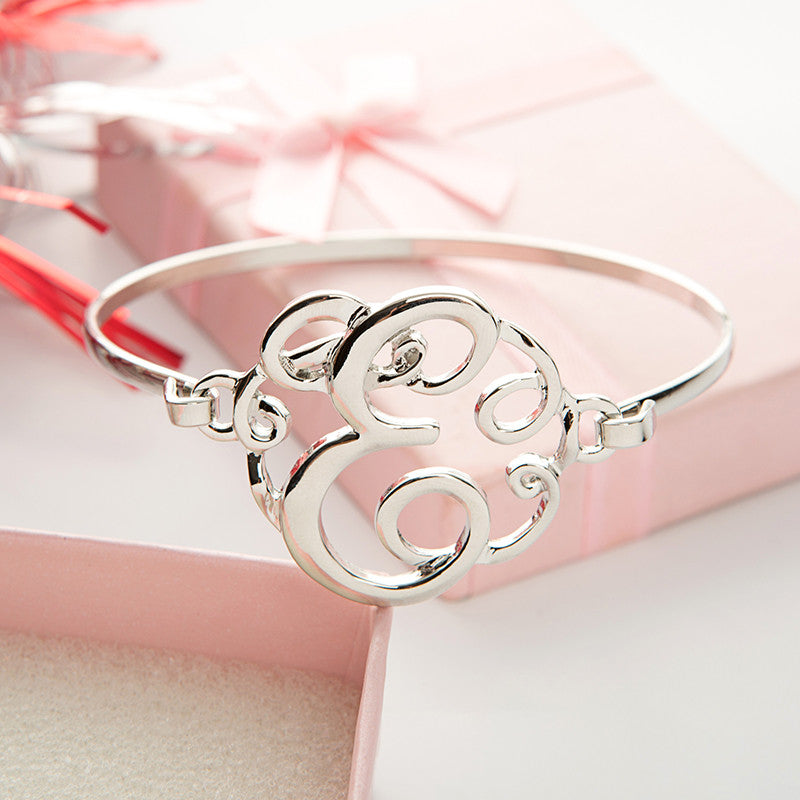 Monogram Initial Script Bracelet with Free Gift Box - Ashley Jewels - 6