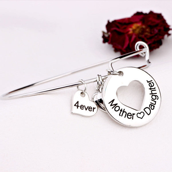 Mother Daughter Love Charm Bangle - Ashley Jewels - 2