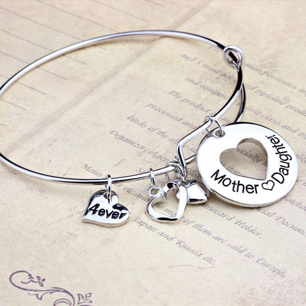 Mother Daughter Love Charm Bangle - Ashley Jewels - 3