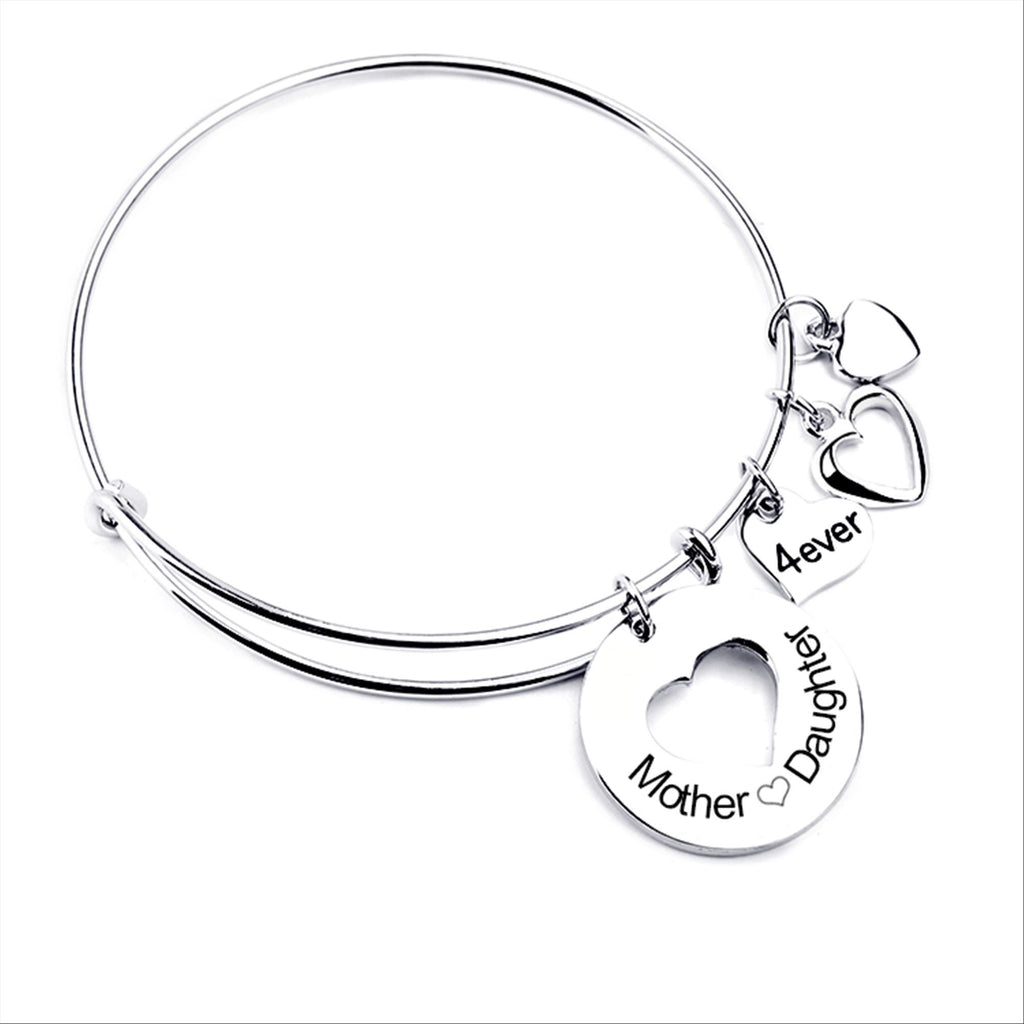 Mother Daughter Love Charm Bangle - Ashley Jewels - 4