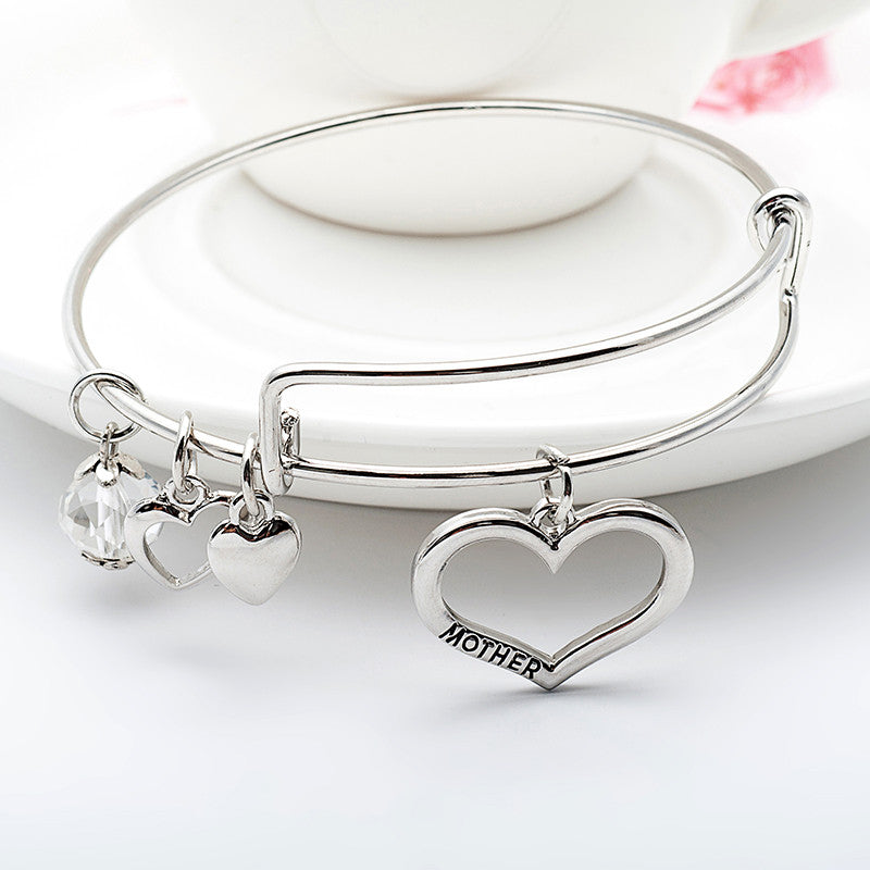 Mother Daughter Charm Bangle Set with Free Gift Box - Ashley Jewels - 2