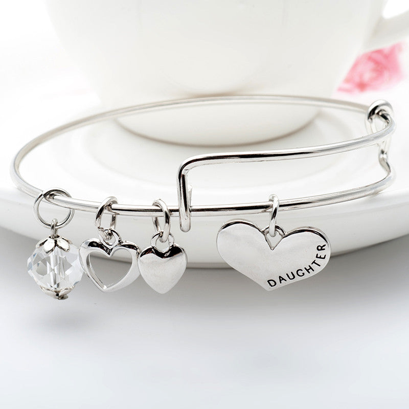 Mother Daughter Charm Bangle Set with Free Gift Box - Ashley Jewels - 3