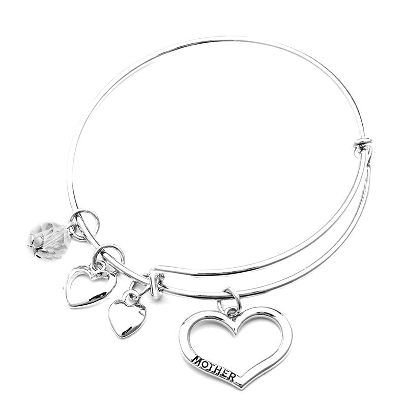 Mother Daughter Charm Bangle Set with Free Gift Box - Ashley Jewels - 4