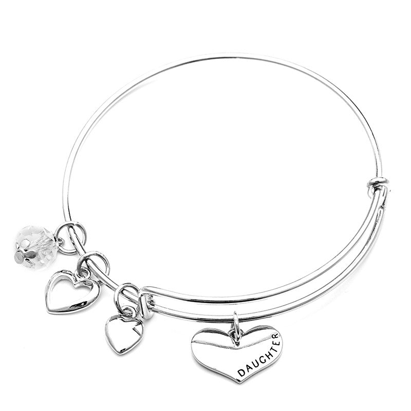Mother Daughter Charm Bangle Set with Free Gift Box - Ashley Jewels - 5