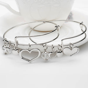 five jewelry personalized bracelet wine bangle charms w custom initial four bangles now charm shop