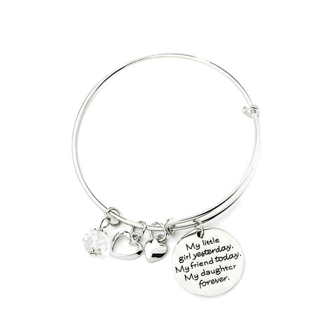 My Girl My Friend My Daughter Charms Bangle - Ashley Jewels