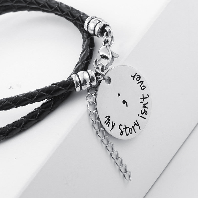 My Story isn't Over Hand Stamped Bracelet - Ashley Jewels - 3