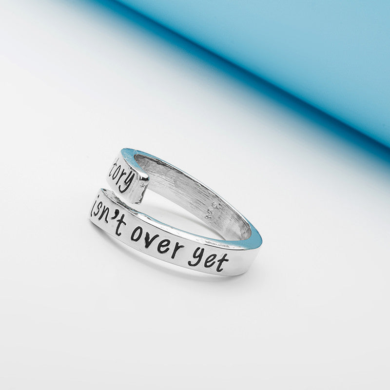 My Story Isn't Over Yet Hand Stamped Ring - Ashley Jewels - 4