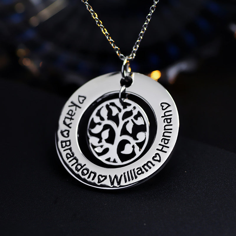 Personalized Tree of Life Pendant - Ashley Jewels - 3