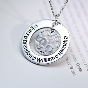 Personalized Tree of Life Pendant - Ashley Jewels - 4
