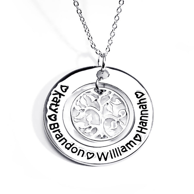 Personalized Tree of Life Pendant - Ashley Jewels - 1