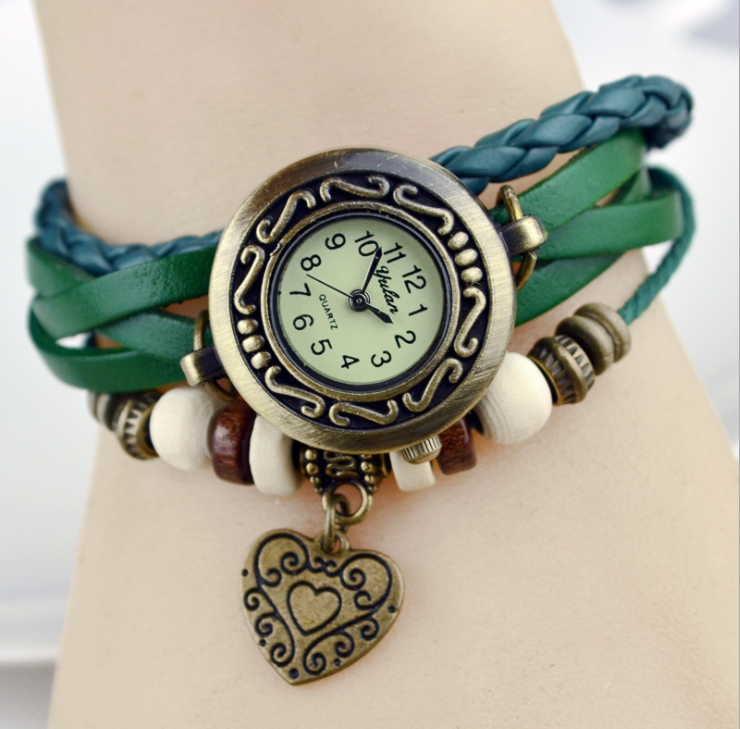 Heart Vintage Wrap Watch - Ashley Jewels - 6