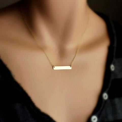 Rectangle Bar Necklace - Ashley Jewels