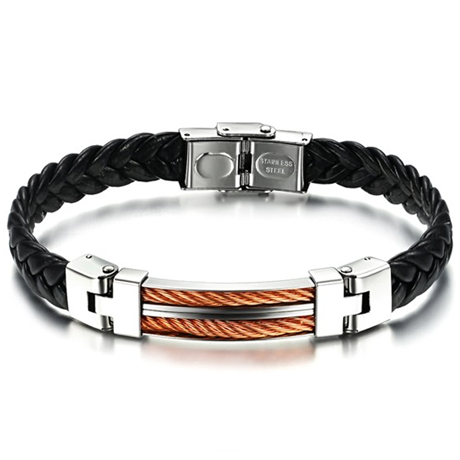Strong Rope Stainless Steel Men's Bracelet - Ashley Jewels - 1