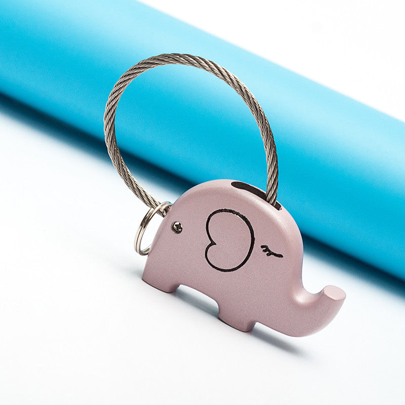 Save Elephant Love Keychain-Pink Color - Ashley Jewels - 2
