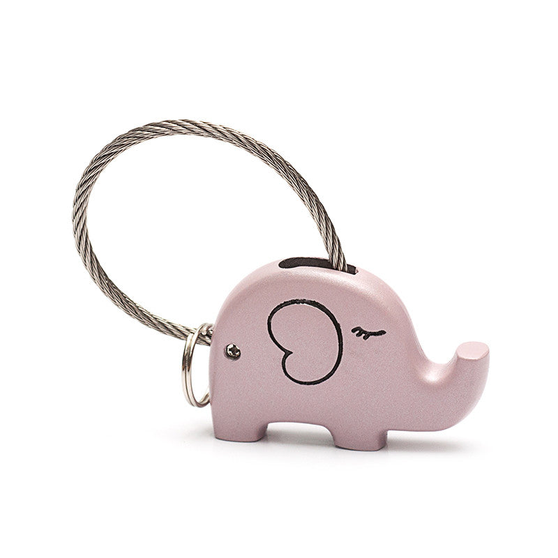 Save Elephant Love Keychain-Pink Color - Ashley Jewels - 1