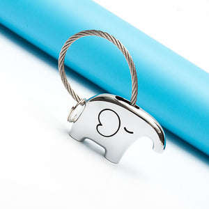 Save Elephant Love Keychain-Silver Color - Ashley Jewels - 2