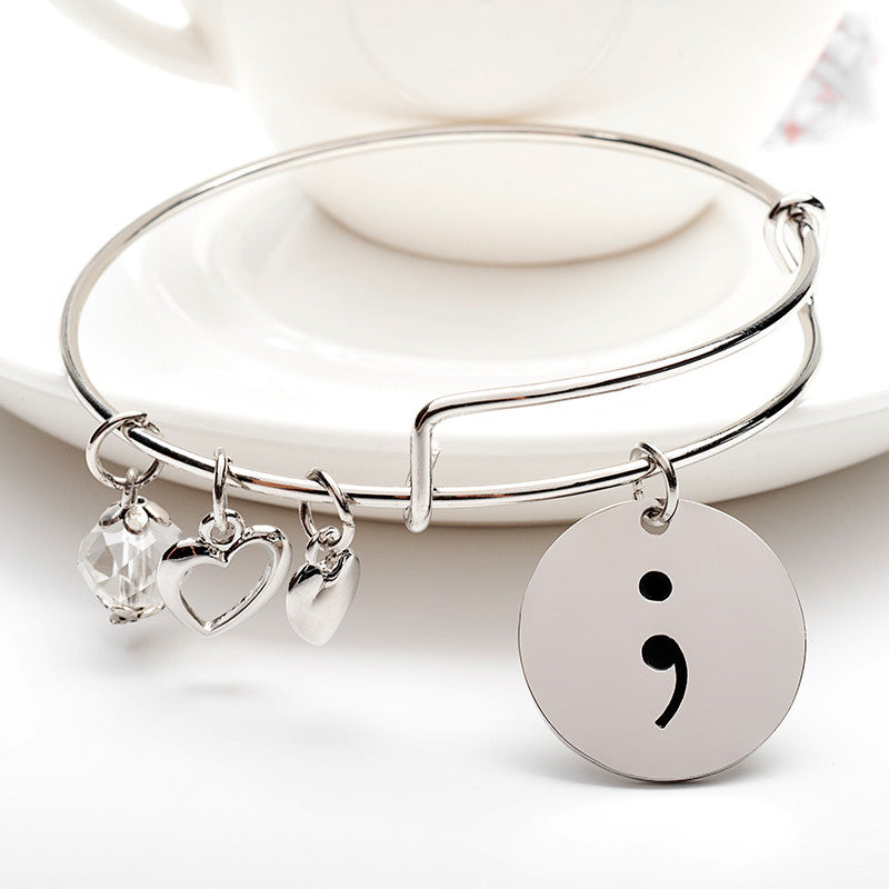Semicolon Charms Bangle - Ashley Jewels - 1