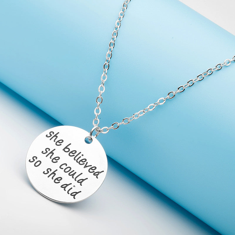 She Believed She Could So She Did Necklace - Ashley Jewels