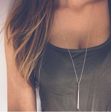 Simple Vertical Pole Necklace - Ashley Jewels - 1