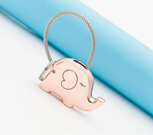 Save Elephant Love Keychain with Free Gift Box - Ashley Jewels - 4