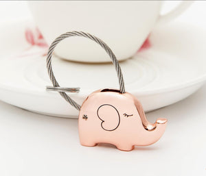 Single Save Elephant Keychain Rose Gold Color - Ashley Jewels - 1