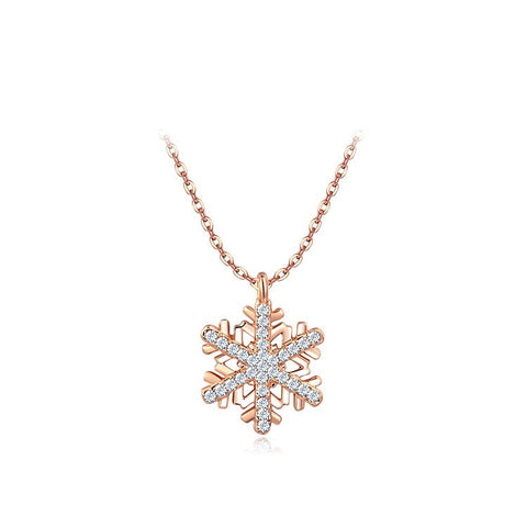 Swarovski Crystal Snow Flake Necklace - Ashley Jewels - 1